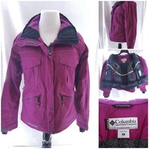 Columbia Titanium Omni Tech Purple Ski Jacket Sz S